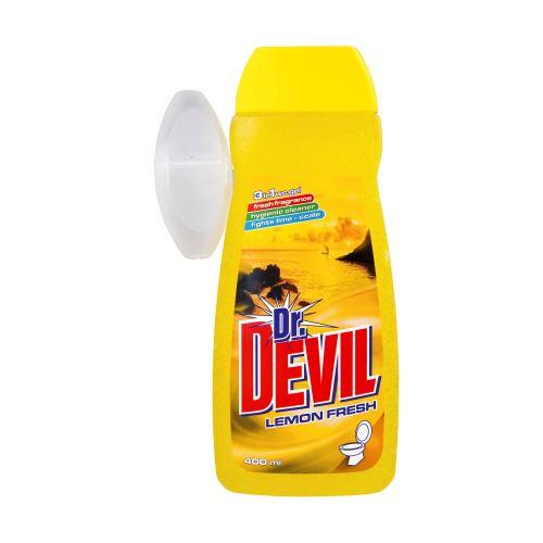 Dr. Devil WC gel s košíčkem 3v1 Lemon 400ml