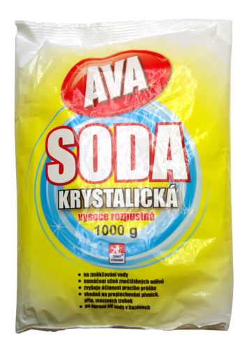 Soda krystalická 1kg Hlubna na změkčení vody