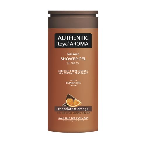 AUTHENTIC toya AROMA – sprchový gel chocolate & orange 400ml