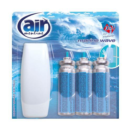 Air menline spray 3x15ml Marine wave s rozprašovač