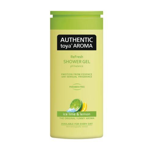AUTHENTIC toya AROMA – sprchový gel ice lime & lemon 400ml