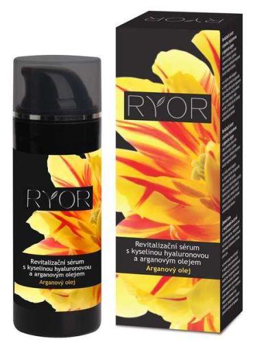 Ryor Revitalizační sérum s kyselinou hyaluronovou a arganovým olejem 50ml dávkovač