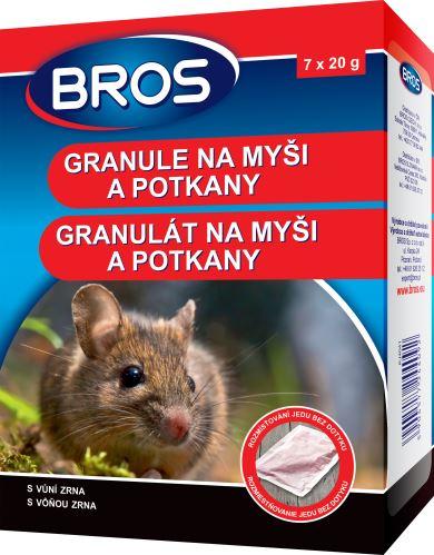 Bros granule na myši,krysy a potkany 140g (1632)